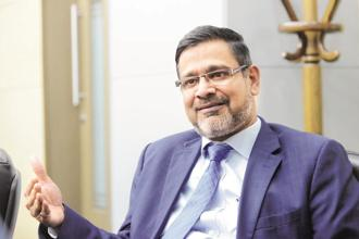 Wipro CEO Abidali Neemuchwala. On Friday, Wipro shares closed 0.74% up at Rs328.45 on BSE, while the Sensex rose 0.71% to 35,511.58 points. Photo: Mint