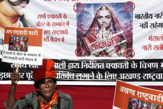 The Supreme Court had earlier this week stayed notifications issued by some states banning the release of the Sanjay Leela Bhansali's controversial film 'Padmaavat'. Photo: PTI