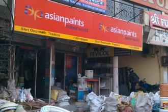 Stock of Asian Paints closed 1.40% down at Rs1,176.70 apiece on the BSE. Photo: Satish Kaushik/Mint