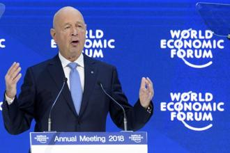WEF chief Klaus Schwab. The world economy is forecast to grow 3.9% in 2018 while India is forecast to grow 7.4% this year, according to IMF. Photo: AP