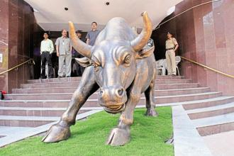 At 9.55am, BSE Sensex was at 36,041.57, up 243.56 points, or 0.68%, while Nifty 50 was at 11,039.90, up 73.70 points, or 0.67%. Photo: Hindustan Times