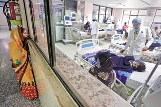 Notwithstanding a significant rise in healthcare allocation in Budget 2017 over the previous year, the government's spending on health and family welfare amounted to merely 0.3% of GDP. Photo: Reuters