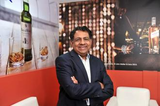 United Spirits CEO Anand Kripalu. Premium brands, including McDowell's No.1, Royal Challenge and Signature, fetch the company higher margins and tie in with its strategy of chasing value rather than volume growth. Photo: S. Kumar/Mint