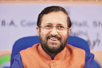 The new curriculum was launched by human resource development minister Prakash Javadekar. Photo: Pradeep Gaur/Mint
