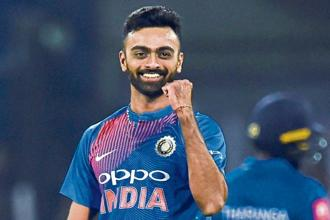 Jaydev Unadkat, who was bought up by Rajasthan Royals for Rs11.5 crore on day 2 of the IPL auction, is the most expensive Indian player in this season. Photo: AFP