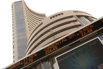 BSE Sensex and Nifty50 trade lower on Tuesday. Photo: Hindustan Times