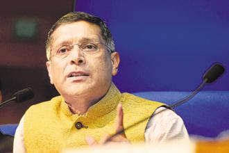 CEA Arvind Subramanian says the govt will be in a better position to cut corporate tax once GST revenue stabilizes, but he declined to comment on whether Budget 2018 may offer any direction on the subject. Photo: Ramesh Pathania/Mint