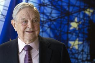 Trump's talent for own goals is playing into Soros's vision of the year ahead. Photo: AP