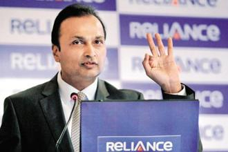 A file photo of Anil Ambani. Reliance Infrastructure's total income went down to Rs6,345.97 crore from Rs6,484.45 crore in the year-ago period. Photo: Reuters