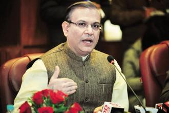 Jayant Sinha's remarks come at a time the economy is making steady recovery from the disruptions caused by structural reforms such as demonetisation and roll-out of the goods and services tax (GST) that had led to a slowdown in growth in the first quarter of 2017-18. Photo: Pradeep Gaur/Mint