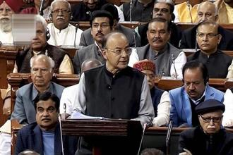 Arun Jaitley announced massive spending on rural and urban infrastructure as also lower tax rates for small and medium enterprises. Photo: PTI