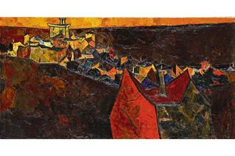 'Ville Provenҫale' by S.H. Raza (1956). Photo: Sotheby's, New York