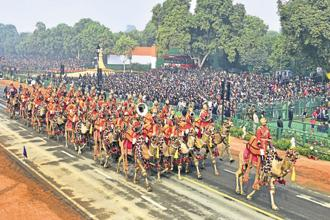 The live telecast of the Republic Day parade was watched by 38 million people this year, up from 22.2 million in 2017. Photo: HT
