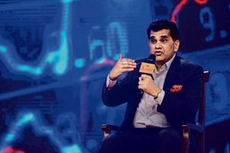 The government and the states are likely to fund the scheme on a 60:40 basis, with premium per person expected to be in the range of Rs1,000-1,200 per year, NITI Aayog CEO Amitabh Kant said. Photo: Pradeep Gaur/Mint