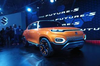 Maruti Suzuki showcases Concept Future S in Auto expo. Photo: Ramesh Pathania/Mint