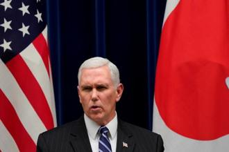 Speaking in Tokyo on his way to South Korea, which is hosting the winter Olympics, Pence said he would soon announce the stepped-up sanctions. Photo: Reuters
