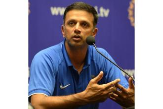 India's U-19 coach Rahul Dravid. Photo: PTI