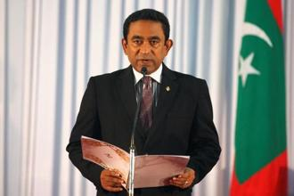 A file photo of Maldives' president Abdulla Yameen. Members of the cabinet, on the direction of Abdulla Yameen, will visit friendly nations of the Maldives and provide updates on the current situation. Photo: Reuters