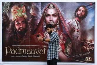 'Padmaavat', starring Deepika Padukone, Ranveer Singh and Shahid Kapoor, has notched up Rs307.05 crore in box-office collections. Photo: Reuters