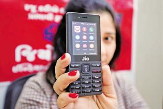 A new version of the Facebook app  will be available on Jio Phone from Wednesday through the app store available on the handset, says Reliance Jio director Akash Ambani. Photo: Reuters