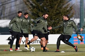 Juventus prepare to face Tottenham Hotspur tonight in the first leg of their Champions League last 16 tie at the Juventus Stadium. Manchester City will be up against Basel in tonight's second game. Photo: AFP
