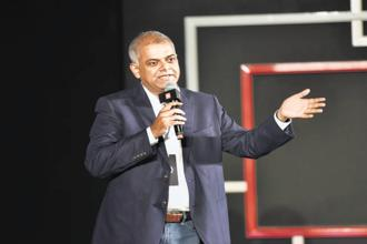 Amazon India vice president Manish Tiwary. Amazon has so far launched in India at least five private label brands, including Symbol and Myx in fashion, Solimo in home appliances, Tenor in smartphones, and AmazonBasics. Photo: HT