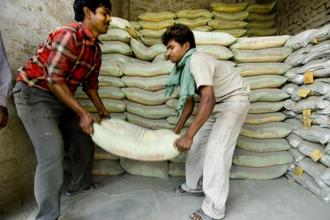 Shares of Binani Industries Ltd, the parent company of Binani Cement, were up 5.8% to Rs113.55 at 12:05pm in Mumbai Wednesday, the most since 28 December. Photo: Mint