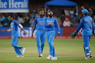 Virat Kohli-led Team India registered a 73-run win over the Proteas in the fifth one-dayer in Port Elizabeth on Tuesday giving  India its first ever series victory on South African soil across all formats. Photo: AFP