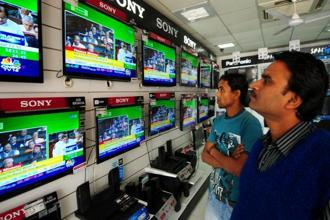 TV is finally succumbing to the forces that have weakened its other media brethren. Photo: Ramesh Pathania/Mint