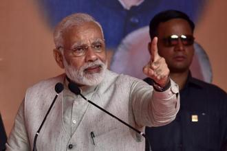 Prime Minister Narendra Modi was addressing a public rally at the Indira Gandhi Park in Itanagar after laying the foundation stone of the Tomo Riba Institute of Health & Medical Science. Photo: Hindustan Times