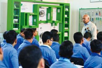 Schneider Electric runs its CSR activities in skill training programmes in collaboration with 33 firms like GMR and Voltas.