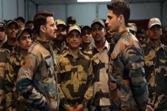 Manoj Bajpayee and Sidharth Malhotra in a still from 'Aiyaary'.