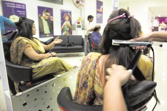Ahmedabad Municipal Corporation has launched an app, Aajiveeka, which helps people book the services of qualified professionals, including beauticians and plumbers. Photo: Mint
