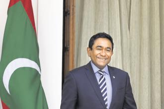 Maldives President Abdulla Yameen. The Maldives has been under a state of emergency since 5 February. Photo: HT
