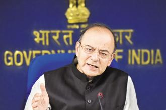 Finance minister Arun Jaitley, in his 2017-18 budget speech, had said the government will introduce the Unregulated Deposit Schemes Bill, 2018, as part of a 'Clean India' agenda. The bill was envisaged after the Saradha scam in 2013. Photo: HT
