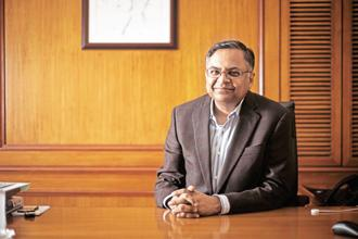 Tata Sons chairman N. Chandrasekaran. Companies will be classified into 7-8 sectors rather than over 100 operating companies currently. Photo: Mint