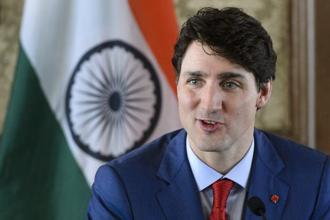 Canadian PM Justin Trudeau was received by a junior minister when he arrived at New Delhi airport on Saturday and by district officials when he visited the historic Taj Mahal monument in Agra the next day. Photo: AP