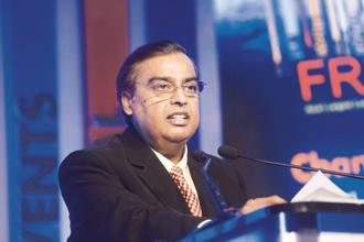 At the Uttar Pradesh Investors' Summit, CMD Mukesh Ambani said Reliance Jio will make available over 20 million JioPhones in UP within the next two months on a priority basis. Photo: Abhijit Bhatlekar/Mint