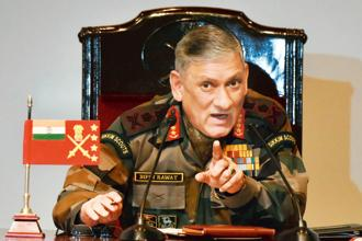 Army chief  General Bipin Rawat said the solution to the problem lies in ensuring development of the region by taking a holistic approach. Photo: Hindustan Times
