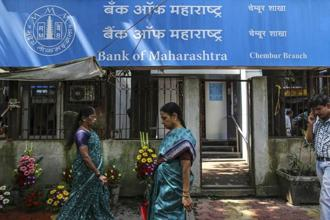 The Bank of Maharashtra has reported losses for seven quarters through December, weighed down by a stressed-asset ratio of more than 19%. Photo: Blomberg