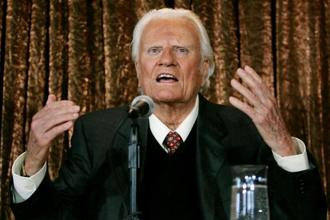 A file photo of evangelist Billy Graham who died on Wednesday at the age of 99. Photo: Reuters
