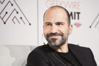 Uber chief executive officer Dara Khosrowshahi is in India today. Photo: Bloomberg