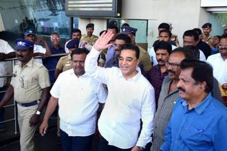 Kamal Haasan, who has been critical about the ruling AIADMK in the last one year and has been expressing his political interests, officially announced his political entry in November by launching a whistleblower mobile app. Photo: PTI