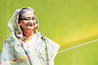 "Sheikh Hasina said Bangladesh and India shared ""excellent"" ties and the two countries have set an example of solving problems like maritime and boundary disputes. Photo: Reuters"