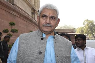Union minister Manoj Sinha says the government is concerned about connecting Ayodhya through rail to the entire country so that Ram Bhakts may visit the place. Photo: HT