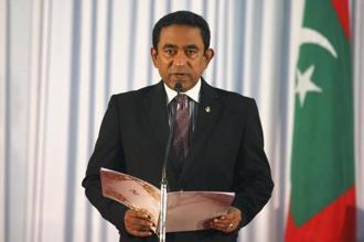 President Abdulla Yameen has extended the Maldives emergency by a month. Photo: Reuters