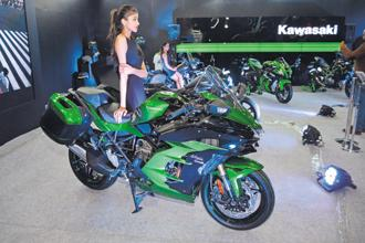 Kawasaki currently imports bikes as completely knocked down and semi-knocked down units. Photo: Ramesh Pathania/Mint