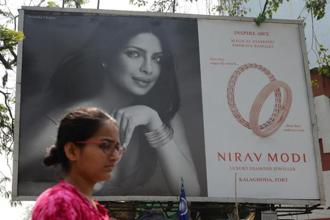 Priyanka Chopra had appeared in a TV commercial for Nirav Modi brand along with Sidharth Malhotra. Photo: AFP