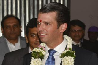 Donald Trump Jr, who has run the Trump Organization with his brother Eric since his father took office, arrived in India on Tuesday to promote Trump-brand real estate projects across the country. Photo: AP