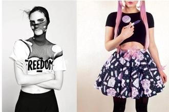 (from left) House of Riot, and Another take on 'yami kawaii'.